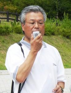 開会式であいさつする中村第1副会長